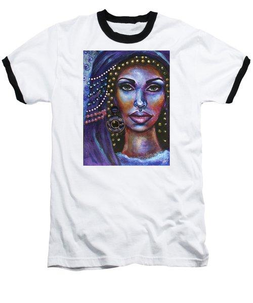 Baseball T-Shirt featuring the painting Fantasy by Alga Washington