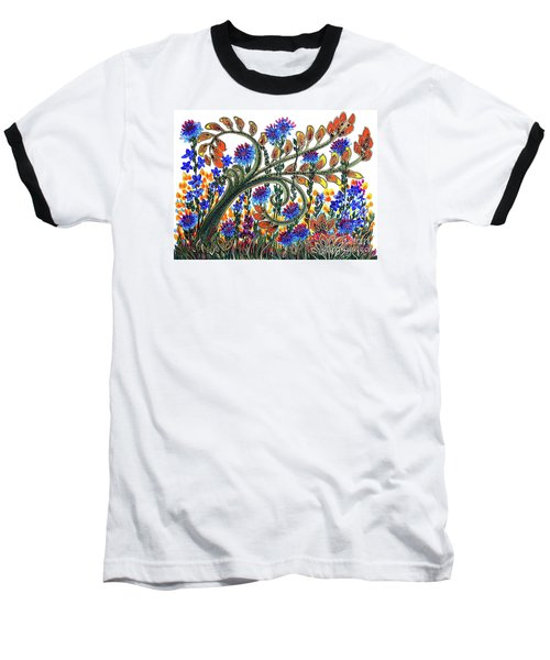 Fantasy Garden Baseball T-Shirt