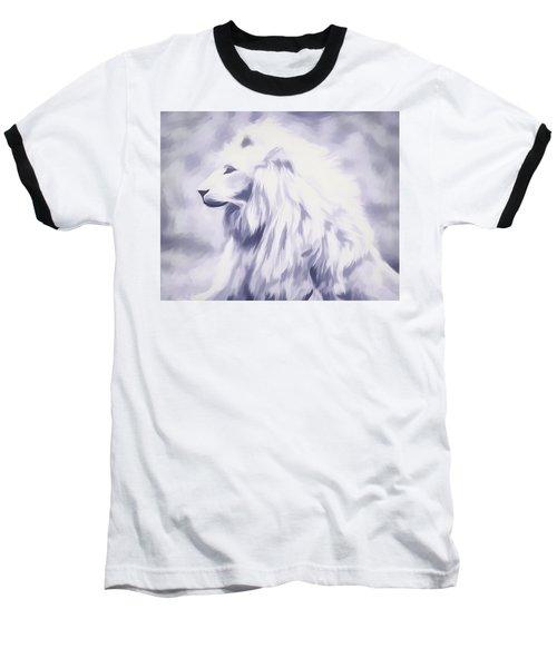 Fantasy White Lion Baseball T-Shirt