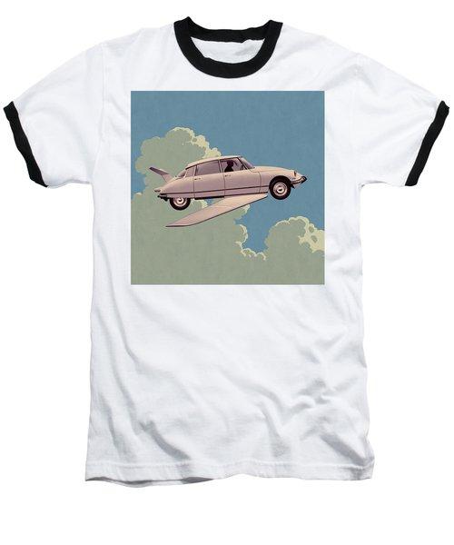 Fantomas 1965 - Right Panel Baseball T-Shirt by Udo Linke