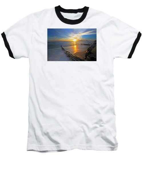Far Out To Sea Baseball T-Shirt by James Roemmling