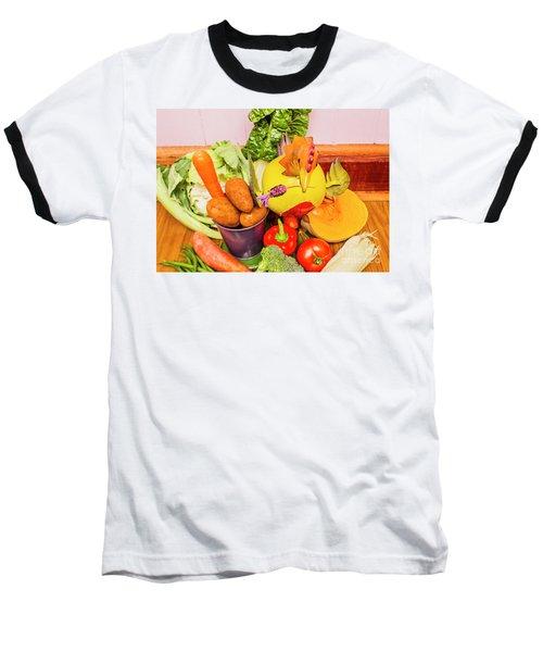 Farm Fresh Produce Baseball T-Shirt by Jorgo Photography - Wall Art Gallery