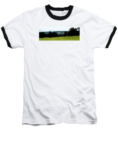 Baseball T-Shirt featuring the photograph Farm In The Valley by Spyder Webb