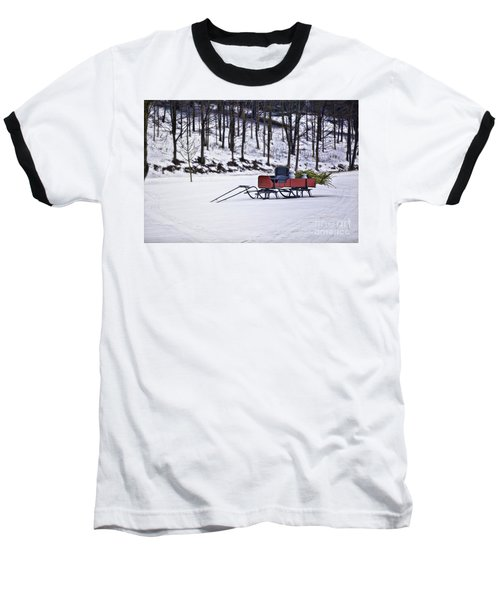 Farm Sleigh Baseball T-Shirt