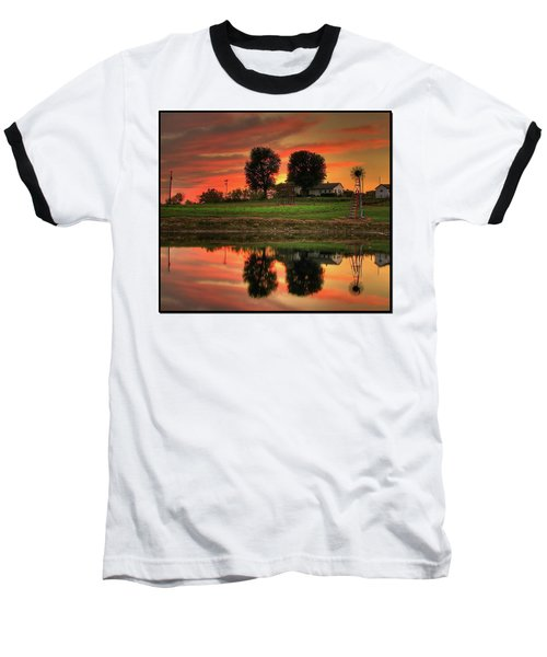 Baseball T-Shirt featuring the photograph Farm Sunset by Farol Tomson