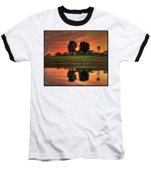 Farm Sunset Baseball T-Shirt