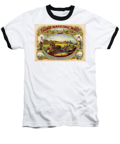 Farm Tools Ad 1859 Baseball T-Shirt by Padre Art