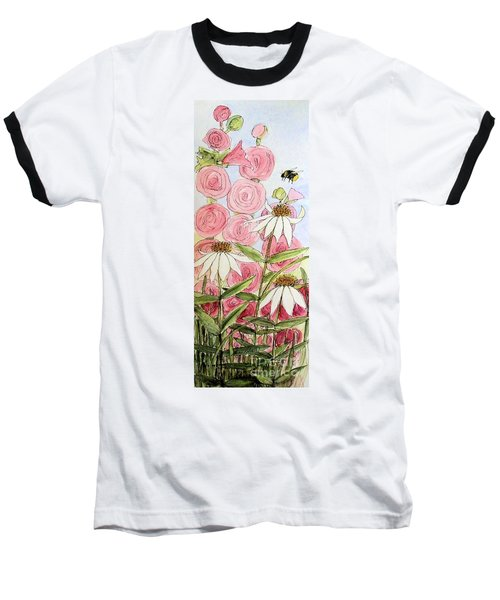 Farmhouse Garden Baseball T-Shirt by Laurie Rohner