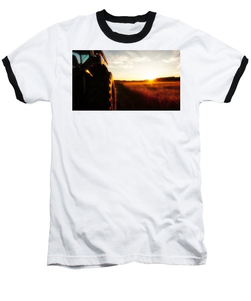 Farming Until Sunset Baseball T-Shirt