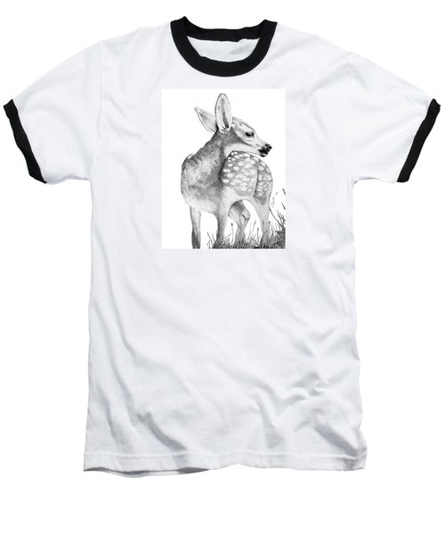 Fawn Baseball T-Shirt by Lawrence Tripoli