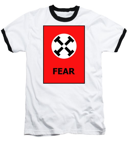 Fear Baseball T-Shirt by Richard Reeve