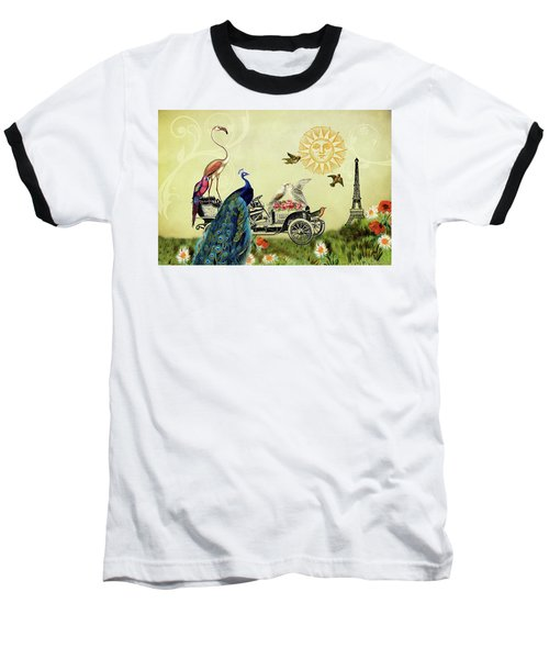 Feathered Friends In Paris, France Baseball T-Shirt by Peggy Collins