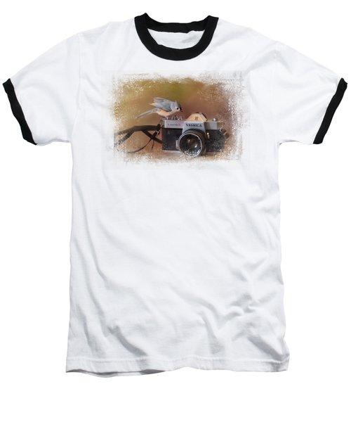 Feathered Photographer Baseball T-Shirt by Jai Johnson