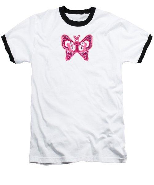 February Butterfly Baseball T-Shirt