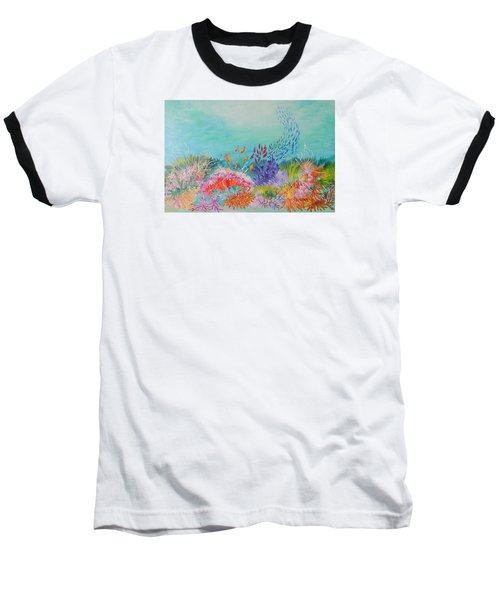 Feeding Time On The Reef Baseball T-Shirt by Lyn Olsen