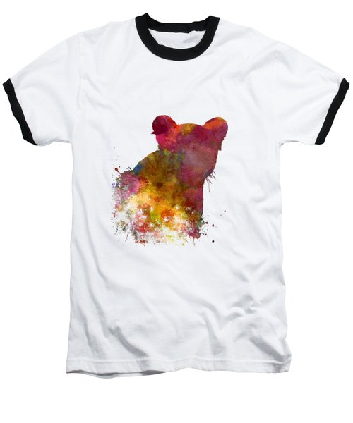 Female Lion 02 In Watercolor Baseball T-Shirt by Pablo Romero