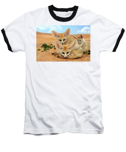 Fennec Foxes Baseball T-Shirt by Thanh Thuy Nguyen