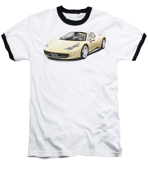 Ferrari 458 Spider - Parallel Hatching Baseball T-Shirt