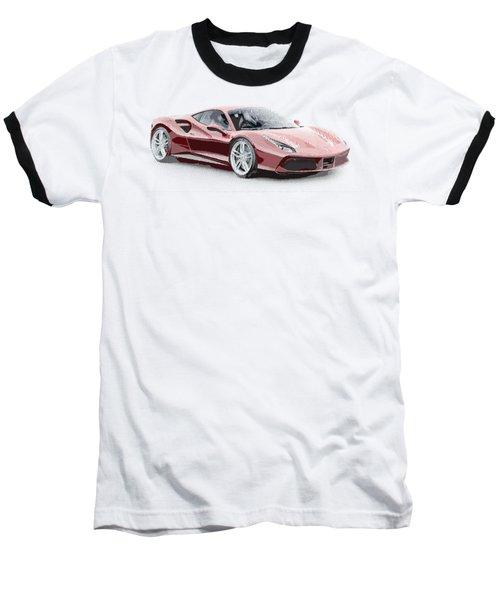 Ferrari 488 Gtb - Parallel Hatching Baseball T-Shirt