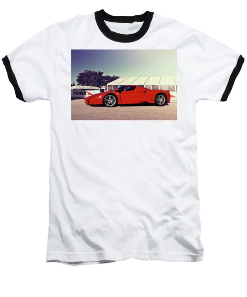 Ferrari Enzo Baseball T-Shirt by Joel Witmeyer