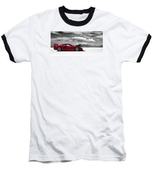 Ferrari F40 Baseball T-Shirt by Douglas Pittman