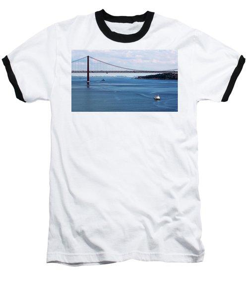 Ferry Across The Tagus Baseball T-Shirt by Lorraine Devon Wilke