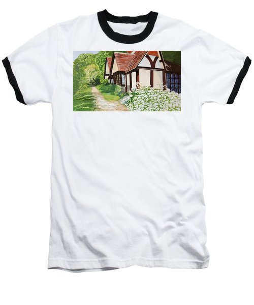 Ferry Cottage Baseball T-Shirt by Joanne Perkins