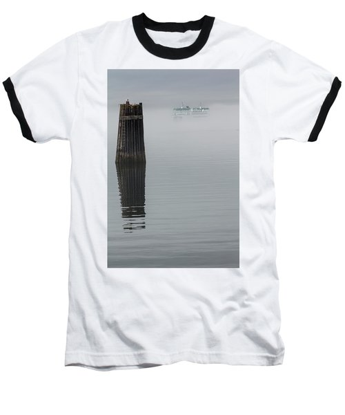Ferry Hiding In The Fog Baseball T-Shirt
