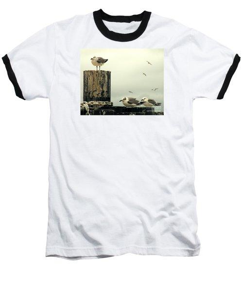 Ferry Hypnosis Baseball T-Shirt by Joe Jake Pratt