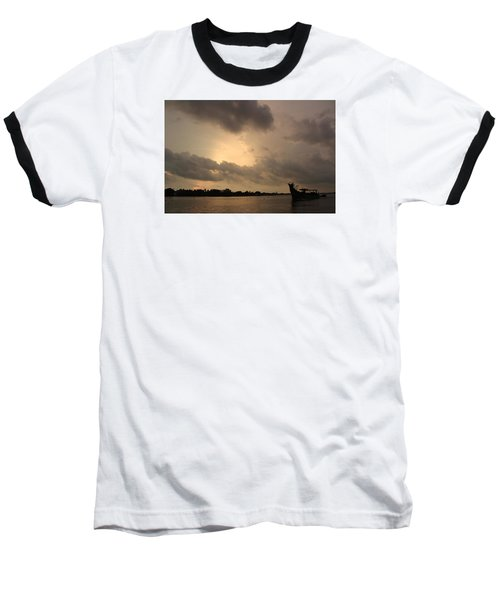 Ferry On The Way To Fort Kochi Baseball T-Shirt by Jennifer Mazzucco