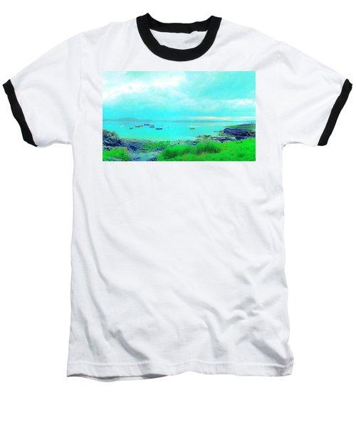 Ferry Wake Baseball T-Shirt by Jan W Faul