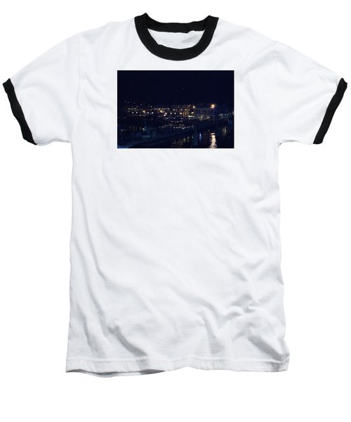 Baseball T-Shirt featuring the photograph Festive Harbor Lights by Margie Avellino
