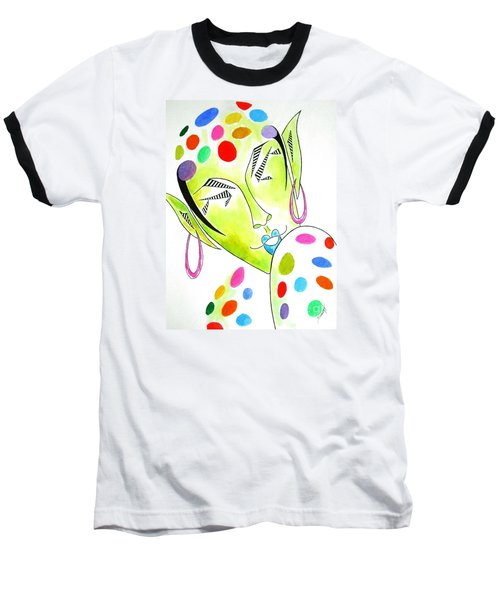 Fey -- The Original -- Fantasy Elf Portrait With Polka Dots Baseball T-Shirt