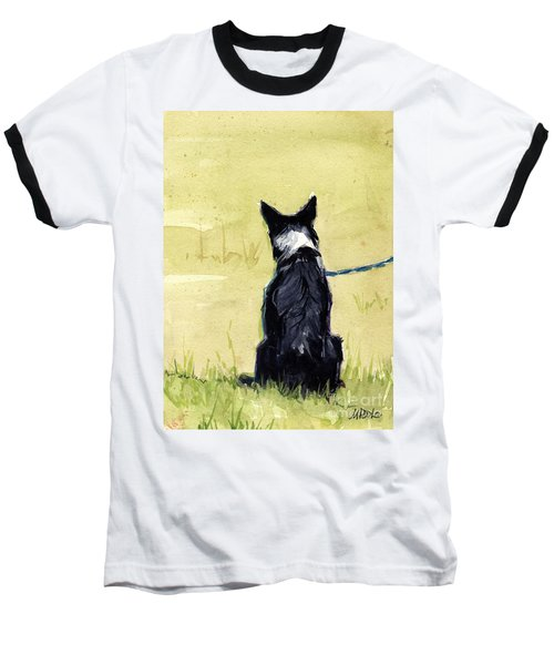 Baseball T-Shirt featuring the painting Field Greens by Molly Poole