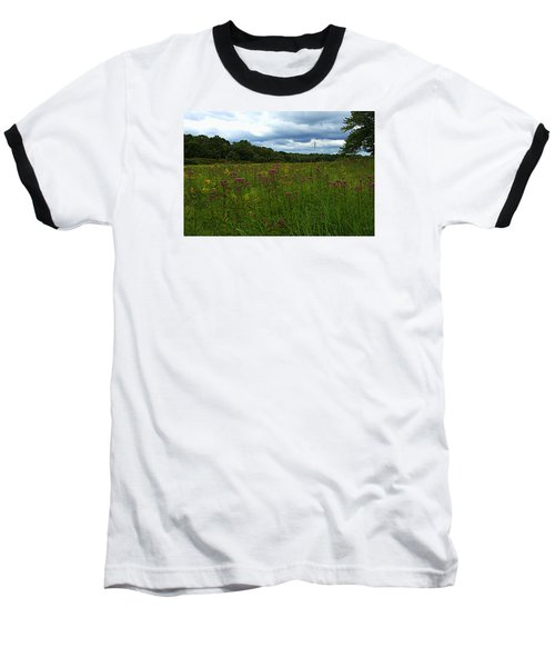 Field Of Color Baseball T-Shirt by Bruce Carpenter