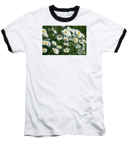 Baseball T-Shirt featuring the photograph Field Of Daisy's  by Alana Ranney