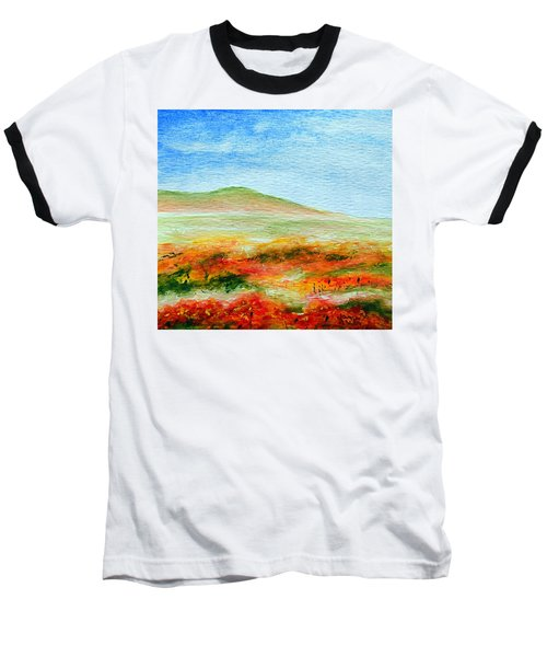 Field Of Poppies Baseball T-Shirt by Jamie Frier