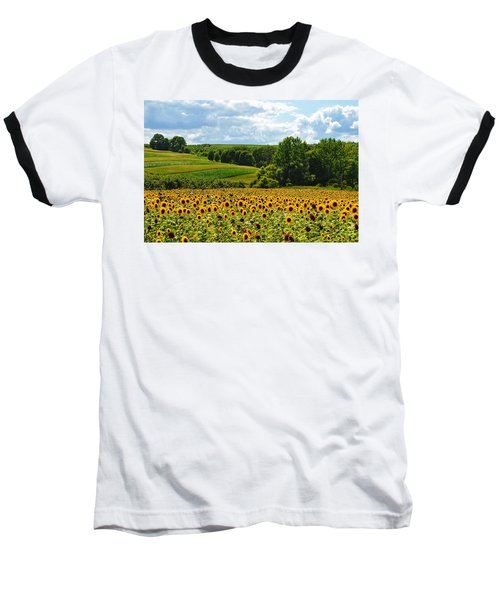 Field Of Sunflowers Baseball T-Shirt
