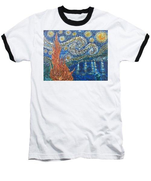 Fiery Night Baseball T-Shirt