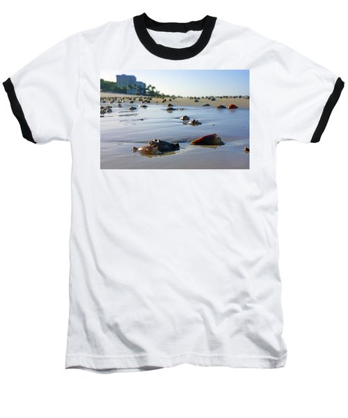 Fighting Conchs On The Beach In Naples, Fl Baseball T-Shirt