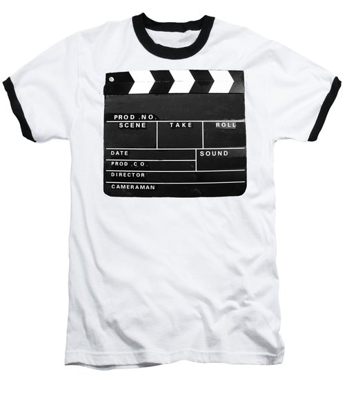 Film Movie Video Production Clapper Board  Baseball T-Shirt by Tom Conway