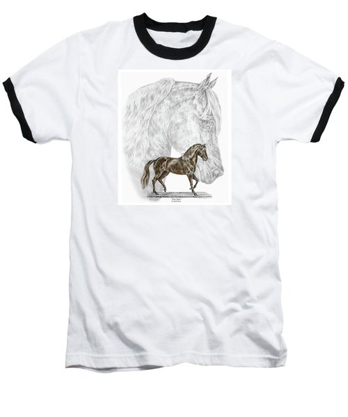Fine Steps - Paso Fino Horse Print Color Tinted Baseball T-Shirt