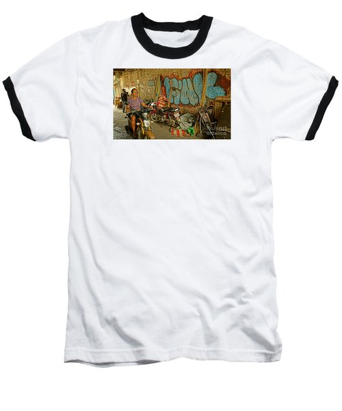 Fink Color Graffiti Baseball T-Shirt