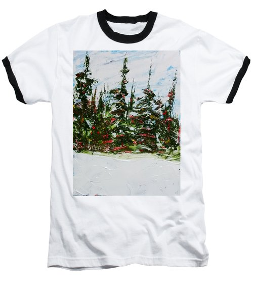 Fir Trees - Spring Thaw Baseball T-Shirt