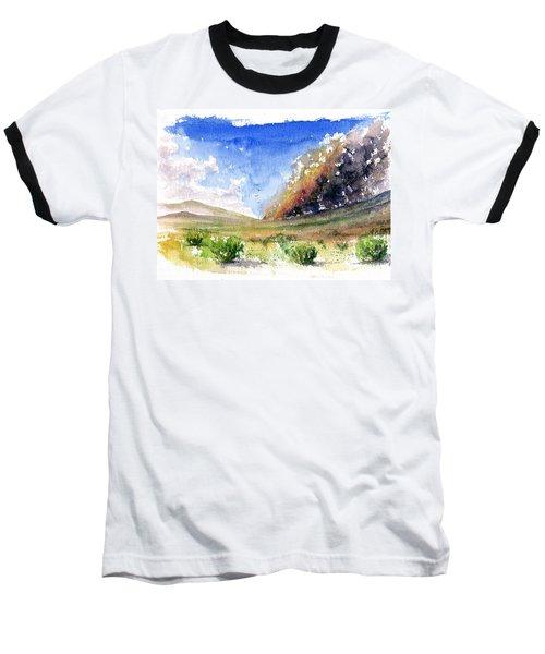Fire In The Desert 1 Baseball T-Shirt by John D Benson