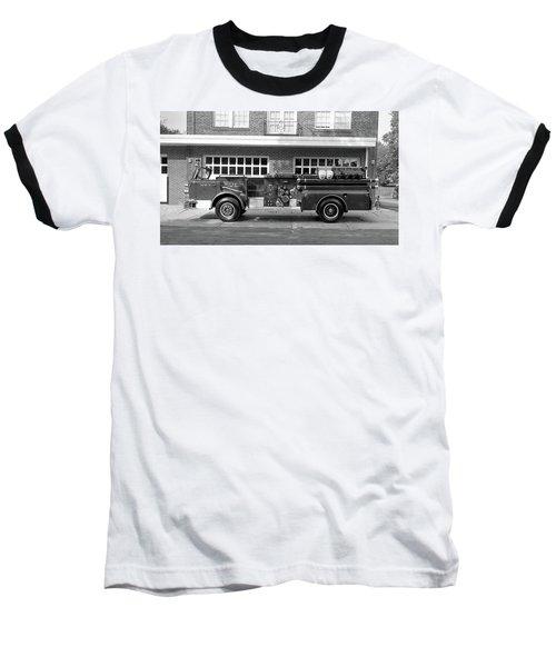 Fire Truck Baseball T-Shirt by Paul Seymour