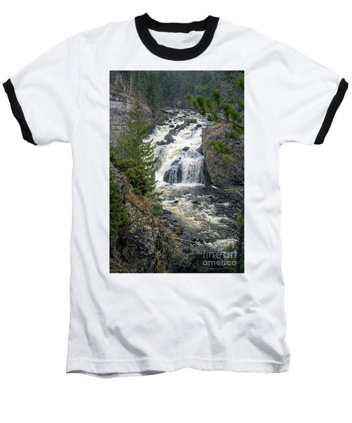 Firehole Falls Baseball T-Shirt by Cindy Murphy - NightVisions