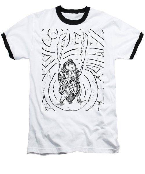 Firestarter Baseball T-Shirt by Sotuland Art