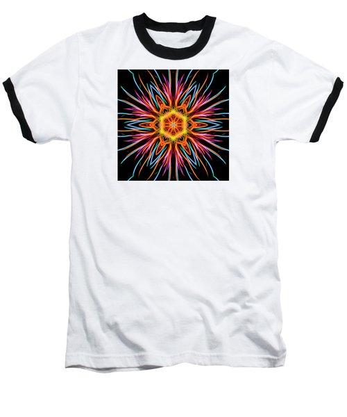 Fireworks Mandala #1 Baseball T-Shirt