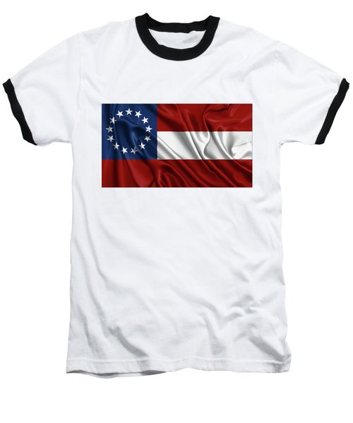 First Flag Of The Confederate States Of America - Stars And Bars 1861-1863 Baseball T-Shirt